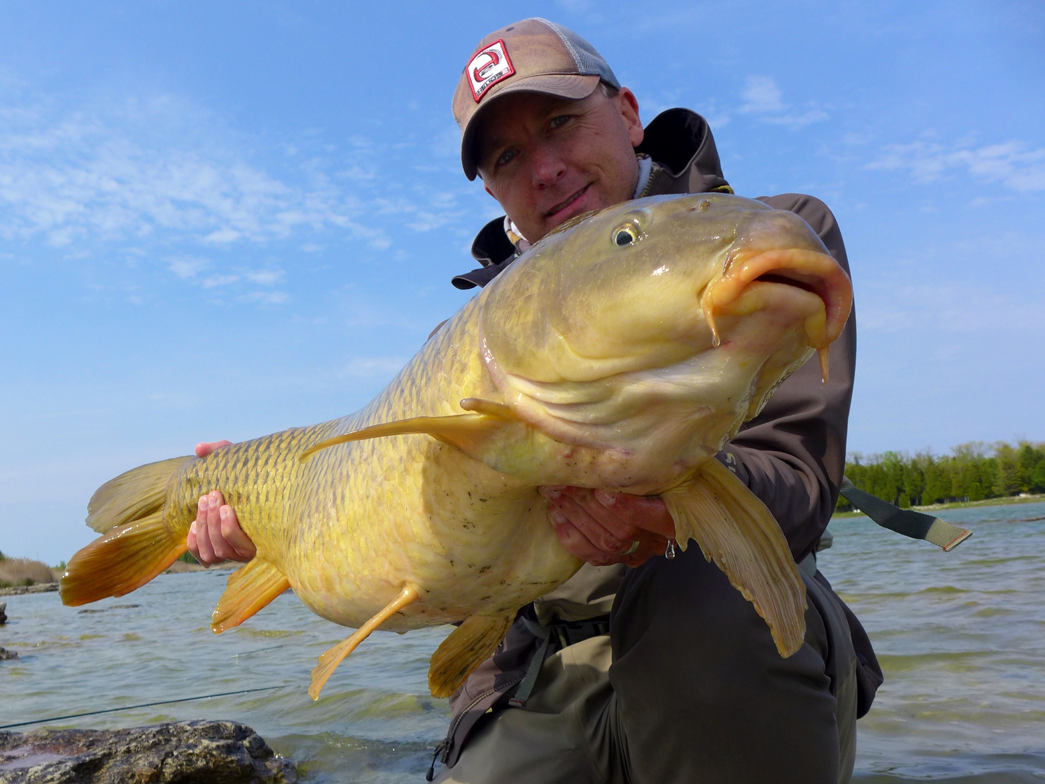 Trip report lake michigan carp extravaganza orvis news for Fishing in lake michigan