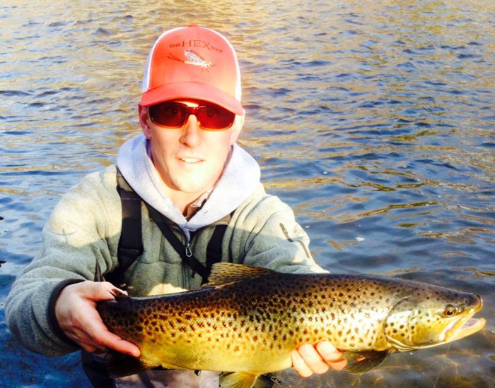 Photo of the day a rogue brown trout in michigan orvis news for Rogue river fishing