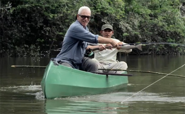 Video jeremy wade battles a real river monster orvis news for Jeremy wade fishing rod