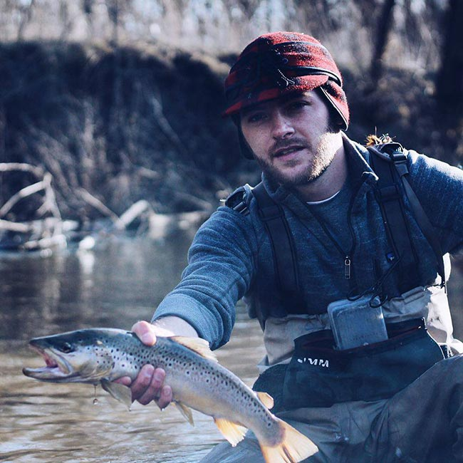 Photos streamer eating browns in se minnesota orvis news for Orvis fly fishing podcast