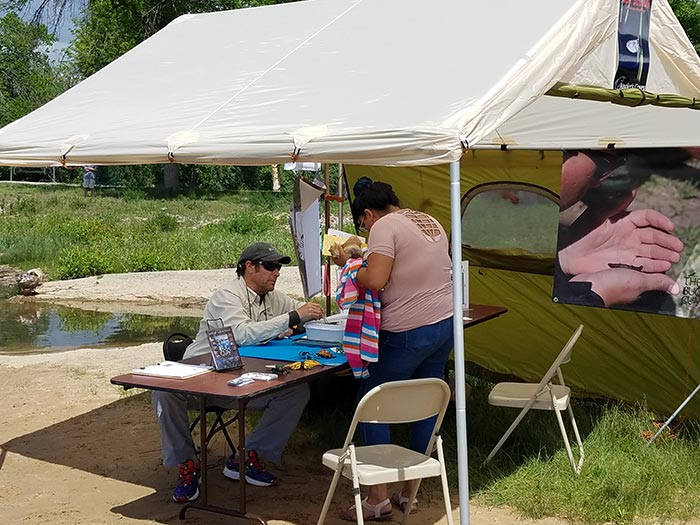 The entomology tent was a big hit allowing visitors to see bugs up close and personal. & Photos: Bringing Fly-Fishing to the People - Orvis News