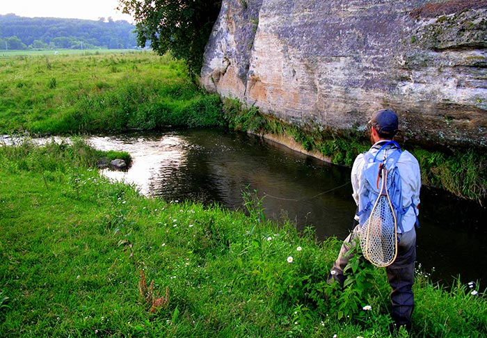 Story and photos learning to love the driftless area for Fly fishing iowa