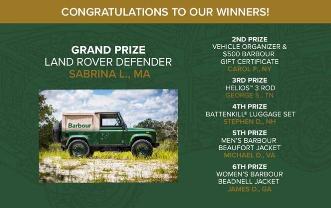orvis barbour land rover
