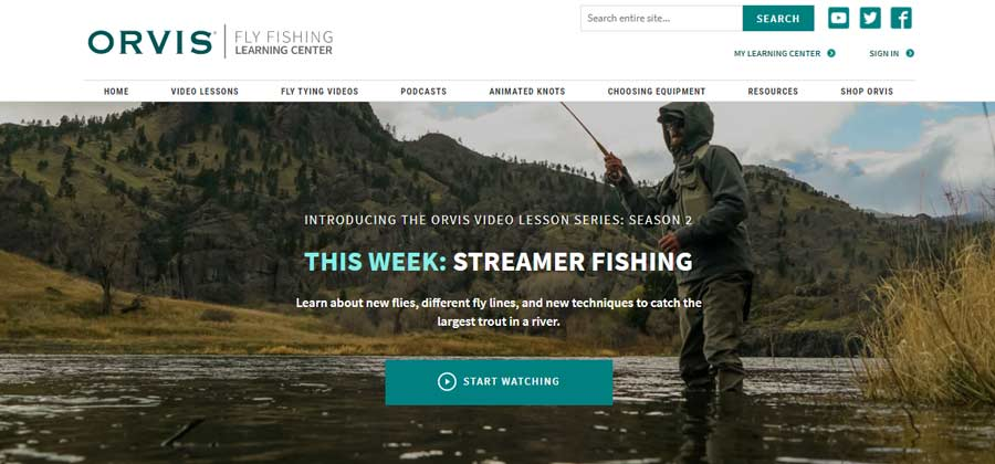 It's Streamer Week on the Redesigned Orvis Fly Fishing Learning Center!